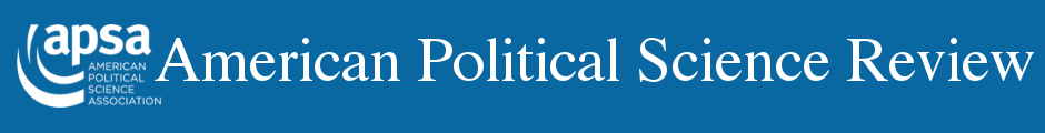 American Political Science Review Dataverse